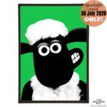 Shaun the Sheep stylish pop art print by Art & Hue with Aardman