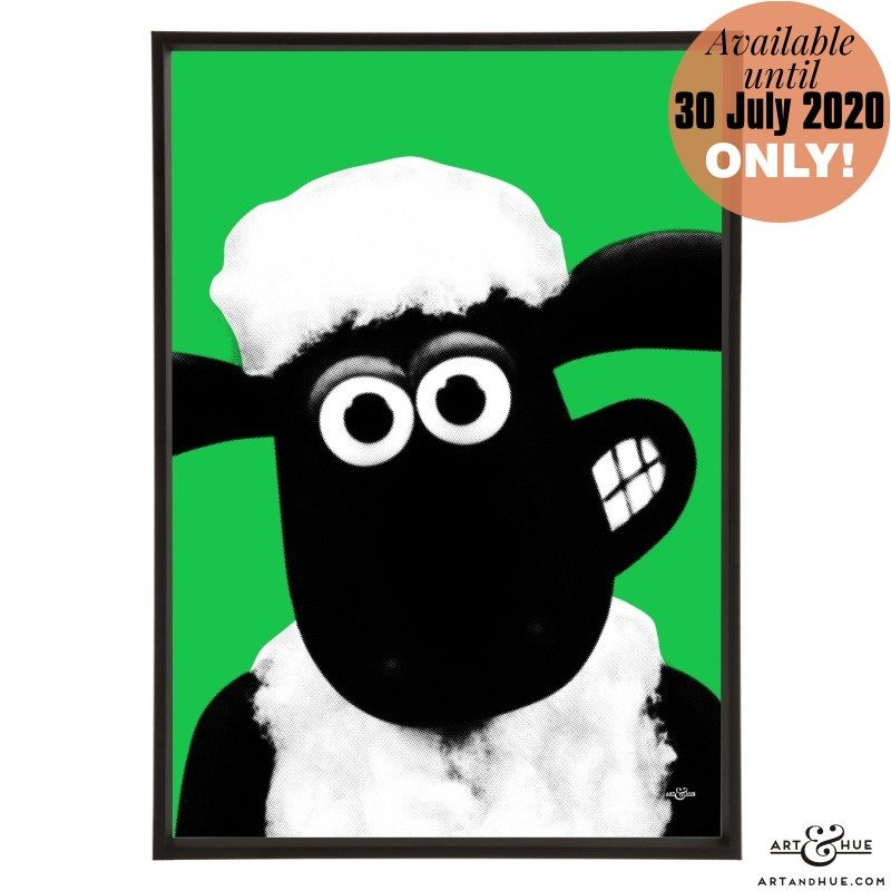 Shaun the Sheep stylish pop art print by Art & Hue with Aardman