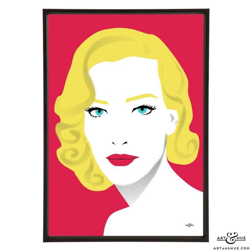 Tatjana Patitz stylish pop art illustration by Art & Hue
