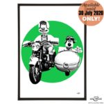 WAL 1 Wallace & Gromit bike and sidecar stylish pop art print by Art & Hue with Aardman