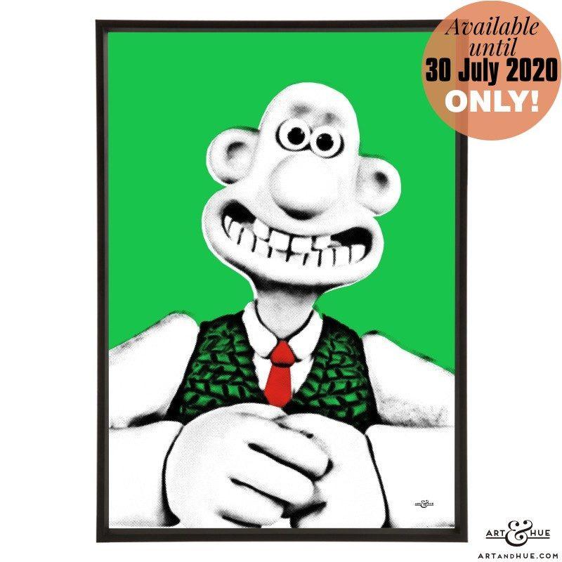 Wallace stylish pop art print by Art & Hue with Aardman