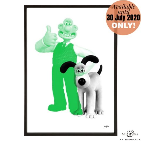 Wallace & Gromit stylish pop art print by Art & Hue with Aardman