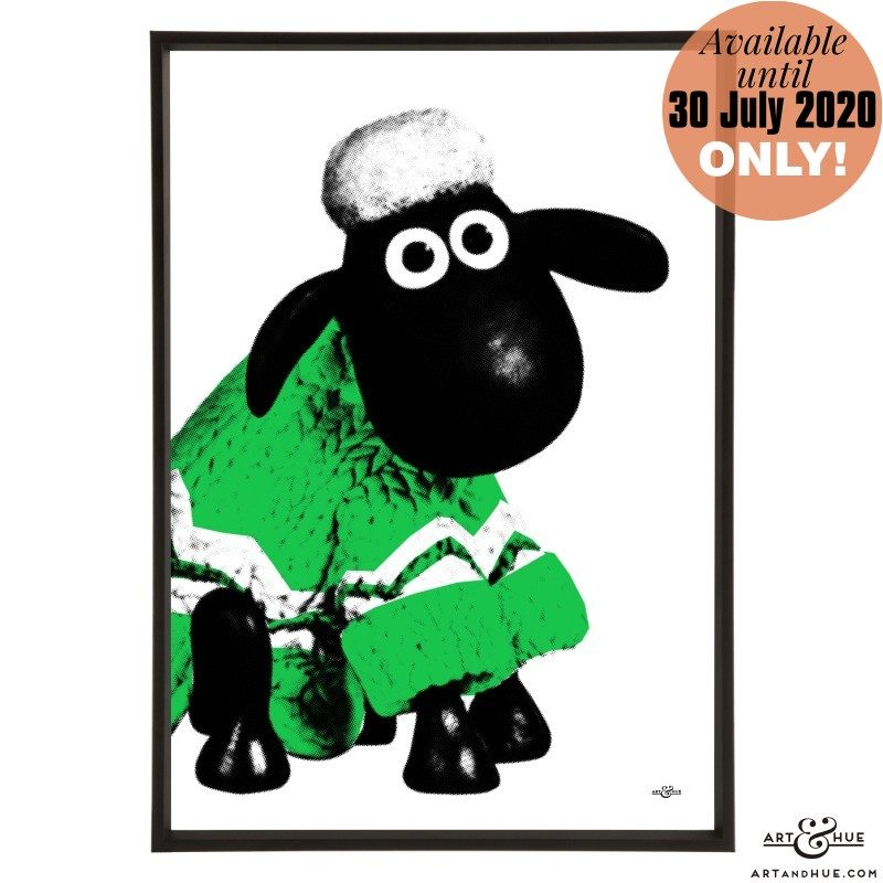 Woolly Jumper Shaun the Sheep stylish pop art print by Art & Hue with Aardman