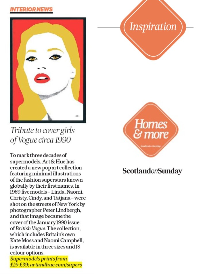 Scotland On Sunday Interior News Supermodels