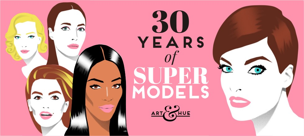 30 years of Supermodels since British Vogue in January 1990
