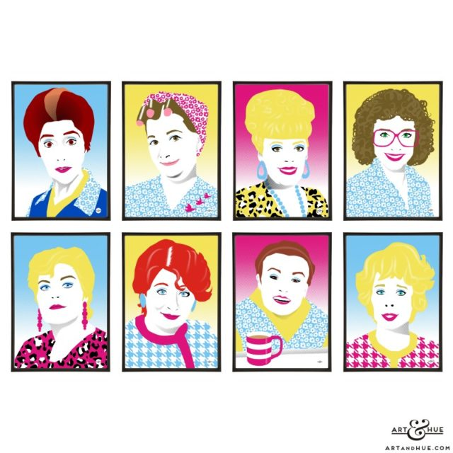 Soap Icons group of pop art prints by Art & Hue