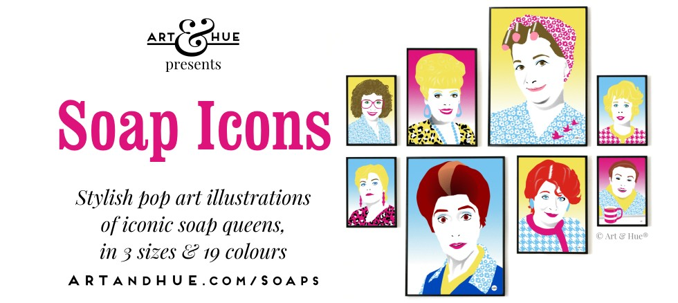 Art & Hue presents Soap Icons pop art prints