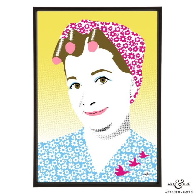Jean Alexander Pop Art print by Art & Hue