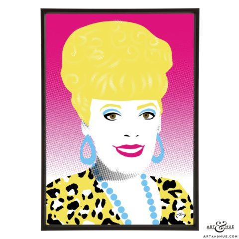 Julie Goodyear Pop Art print by Art & Hue