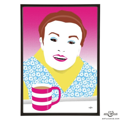 Julie Walters pop art illustration print by Art & Hue