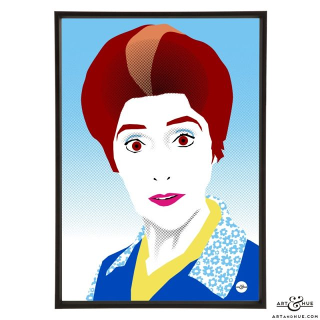 June Brown Pop Art print by Art & Hue