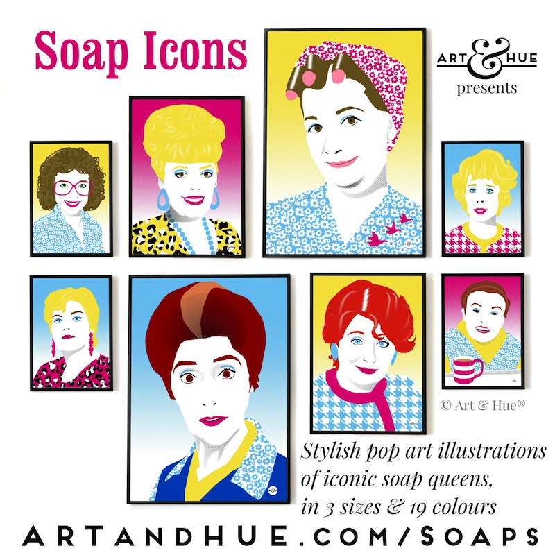 Soap Icons pop art collection by Art & Hue