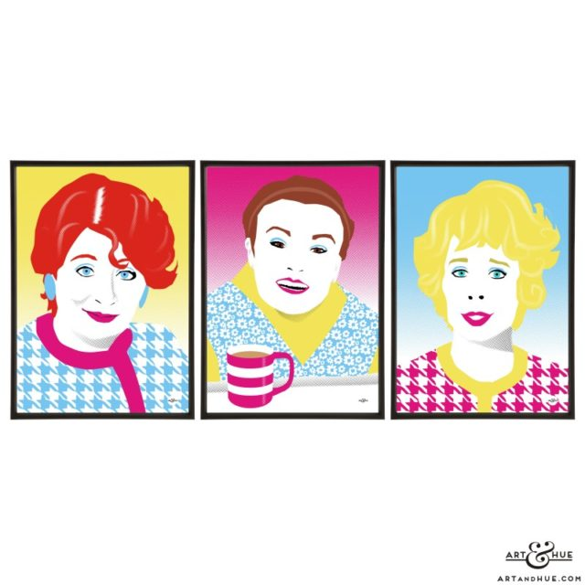 Manchesterford trio of Acorn Antiques soap icons by Art & Hue