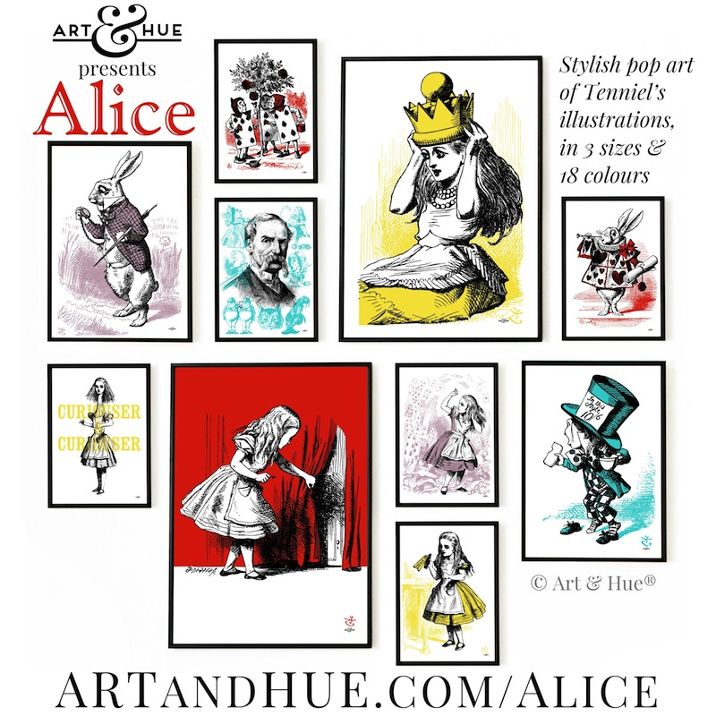 Art & Hue presents Alice pop art prints