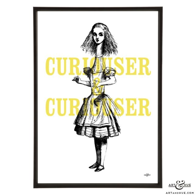 Curiouser & Curiouser pop art print by Art & Hue