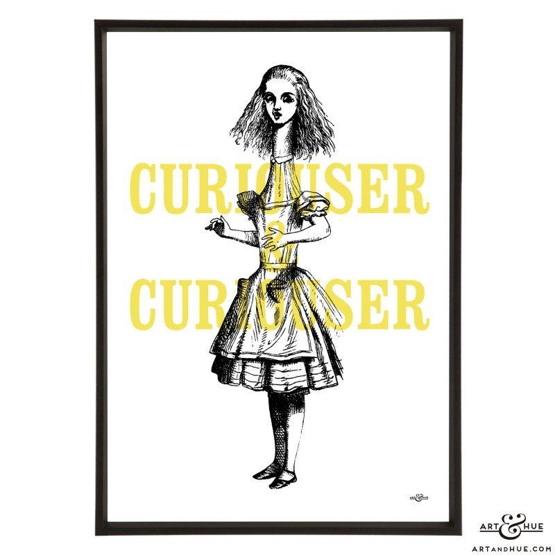 Curiouser & Curiouser pop art print by Art & Hue