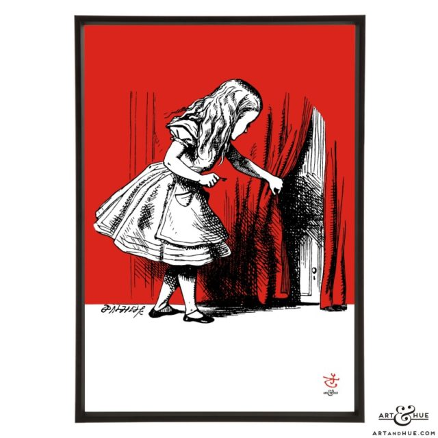 Curtain Alice pop art print by Art & Hue