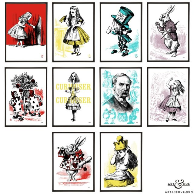 Alice pop art group of prints by Art & Hue