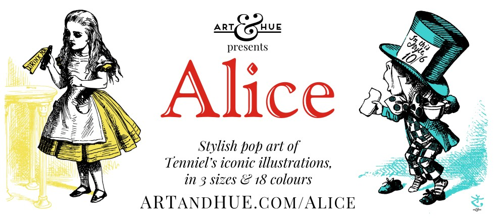Alice pop art collection by Art & Hue