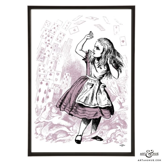 Pack of Cards Alice pop art print by Art & Hue