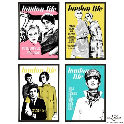London Life pop art group by Art & Hue