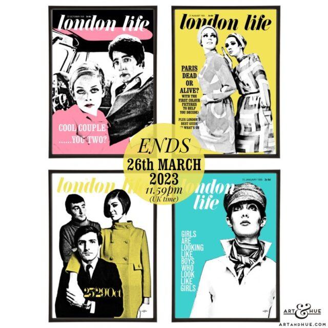 London Life pop art group by Art & Hue
