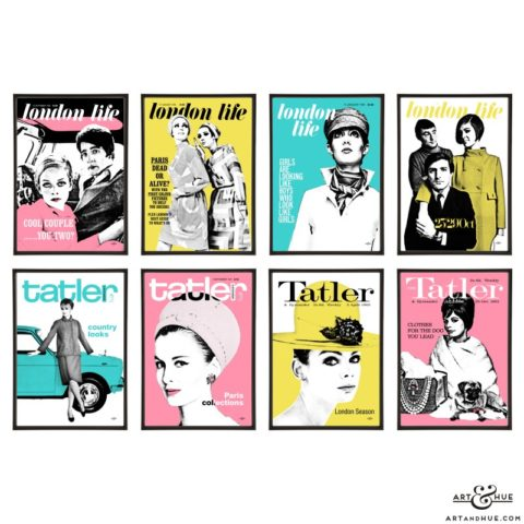 London Life & Tatler pop art group by Art & Hue