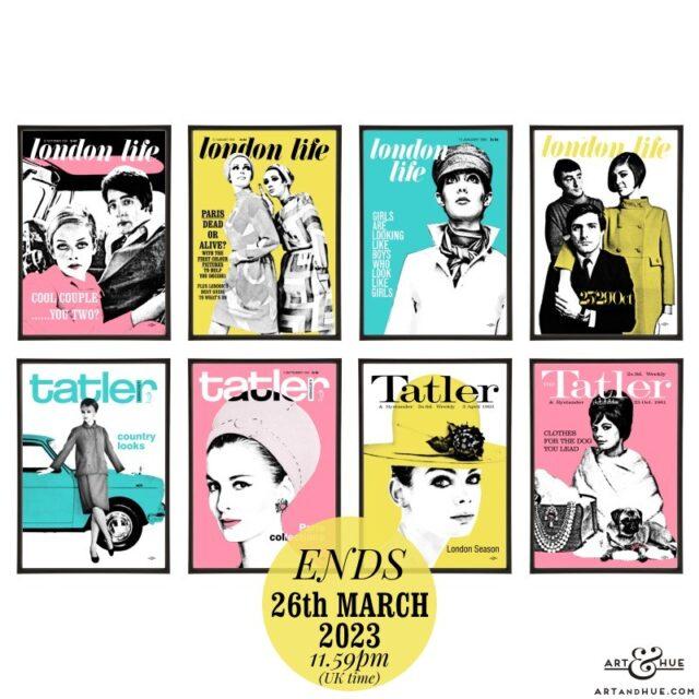 London Life & Tatler pop art group by Art & Hue