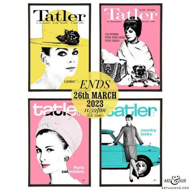 Tatler pop art group by Art & Hue