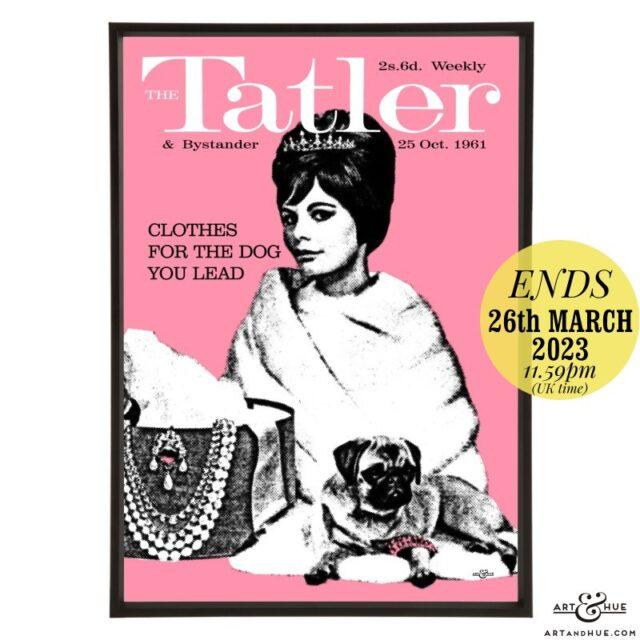 Tatler October 1961 pop art print by Art & Hue