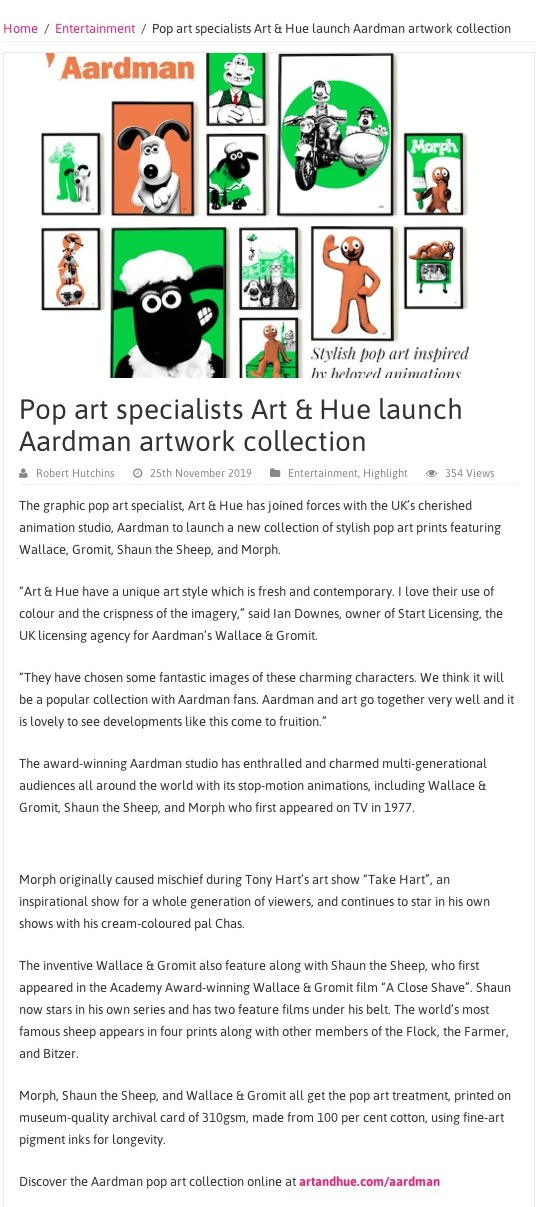 Licensing Biz Aardman collection