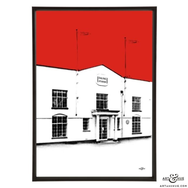 Ealing Studios White Lodge Ealing Green pop art print by Art & Hue
