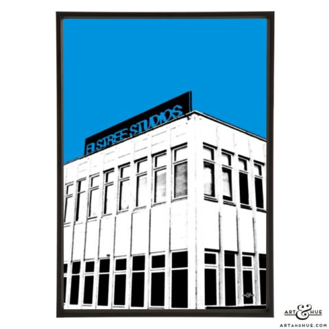 Elstree Studios Borehamwood pop art print by Art & Hue