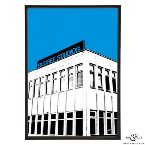 Elstree Studios Borehamwood pop art print by Art & Hue