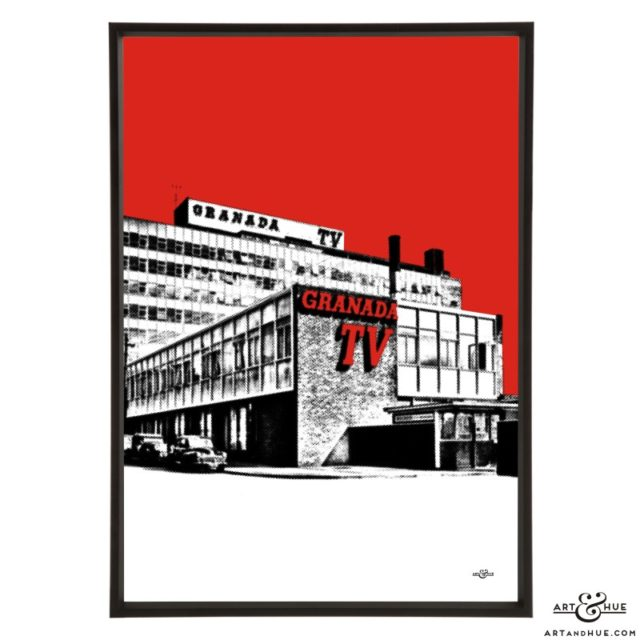 Granada TV Studios Manchester pop art print by Art & Hue