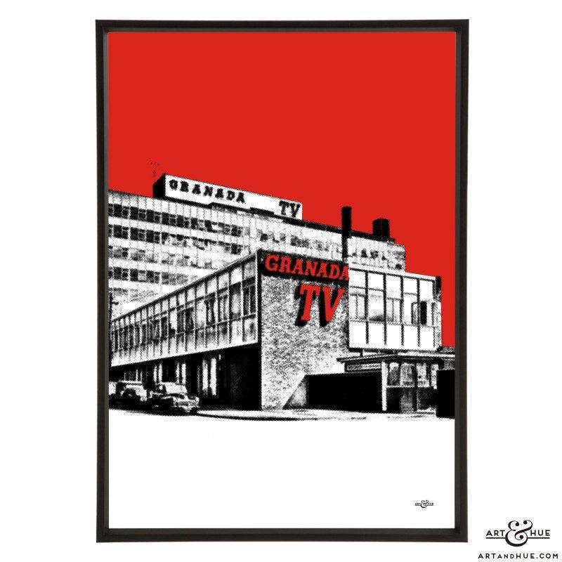 Granada TV Studios Manchester pop art print by Art & Hue
