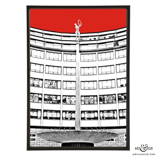Helios Rotunda pop art print by Art & Hue