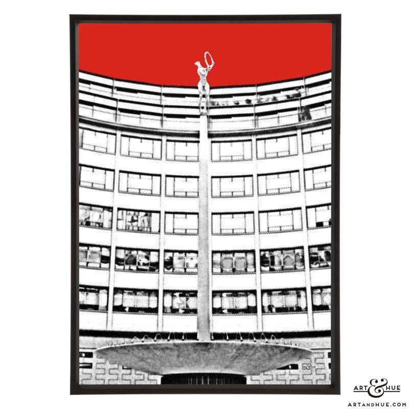 Helios Rotunda pop art print by Art & Hue