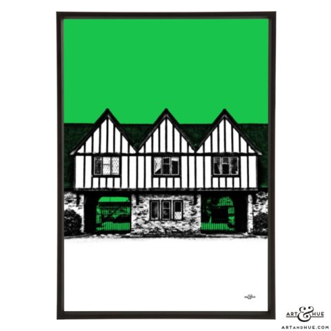 Pinewood Studios Gatehouse pop art print by Art & Hue