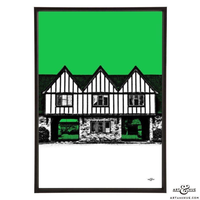 Pinewood Studios Gatehouse pop art print by Art & Hue