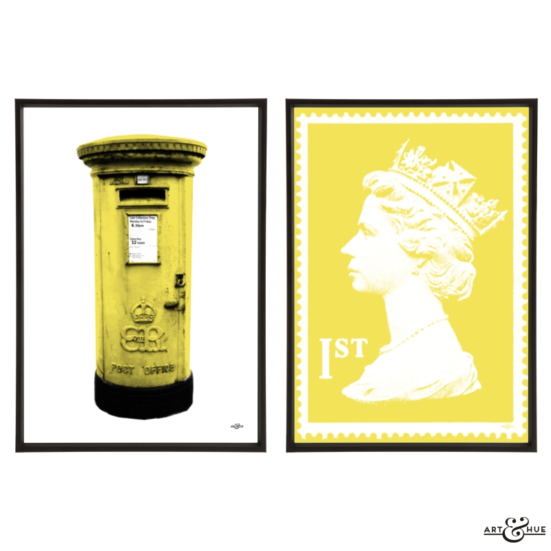 Postal Pair of Pop Art Prints by Art & Hue