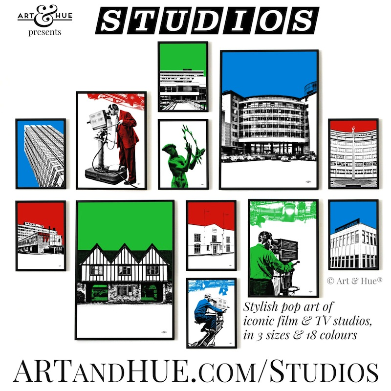 Studios pop art collection by Art & Hue
