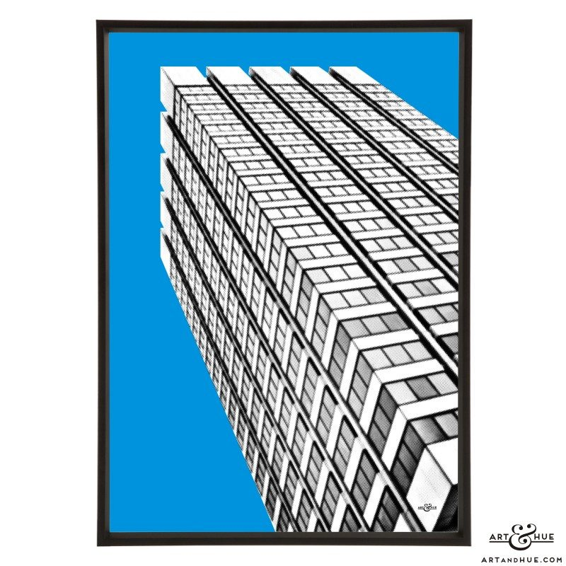 South Bank London Studios Kent House Tower pop art print by Art & Hue