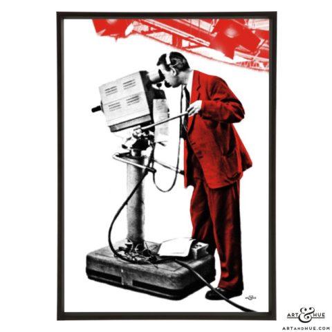 Cameraman 1 stylish pop art print by Art & Hue