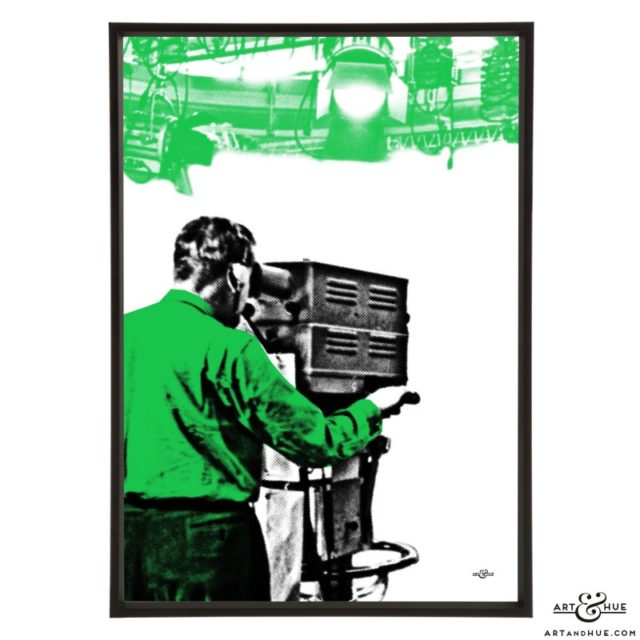 Cameraman 2 stylish pop art print by Art & Hue