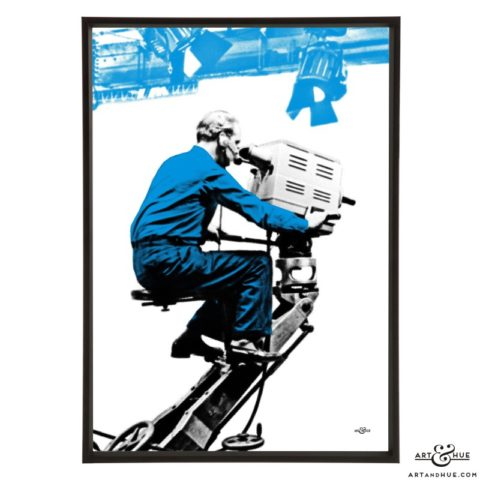Cameraman 3 stylish pop art print by Art & Hue