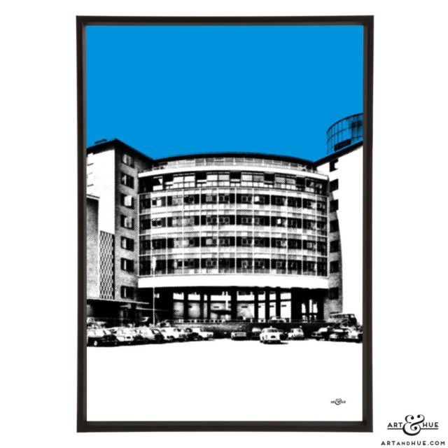 Television Centre Wood Lane pop art print by Art & Hue