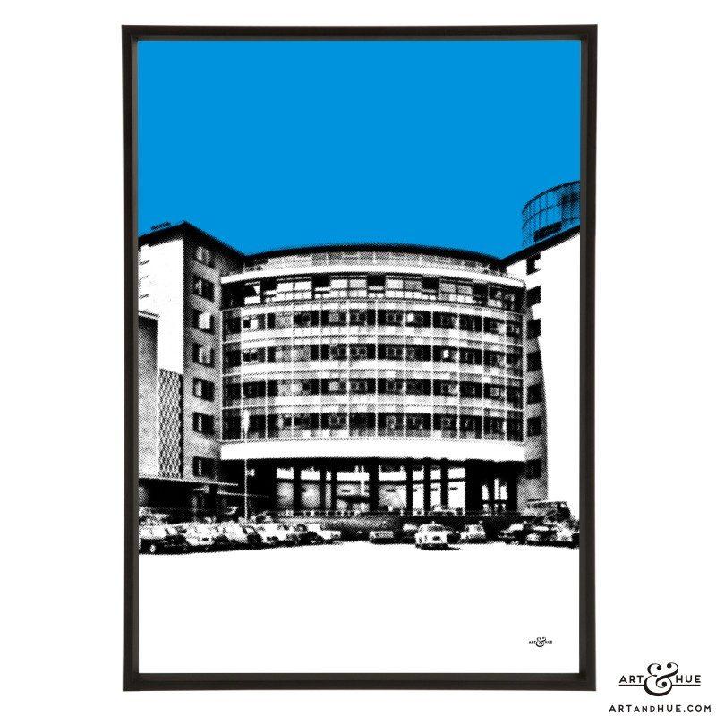 Television Centre Wood Lane pop art print by Art & Hue