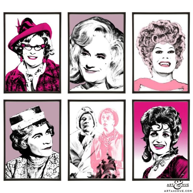 Drag Icons group of six pop art prints by Art & Hue