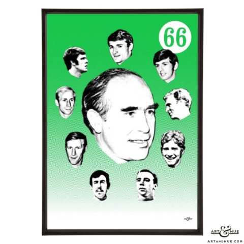 Alf Ramsey stylish pop art print by Art & Hue